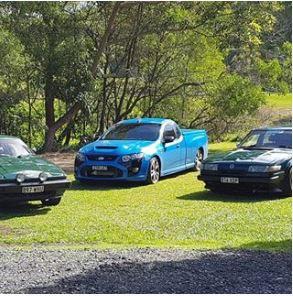 3 cars in a row